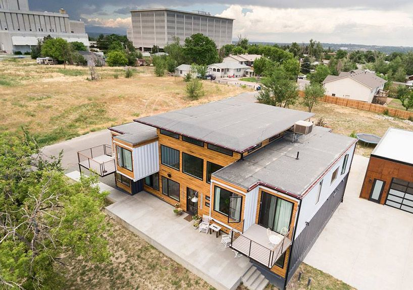colorado firefighter assembles nine shipping containers