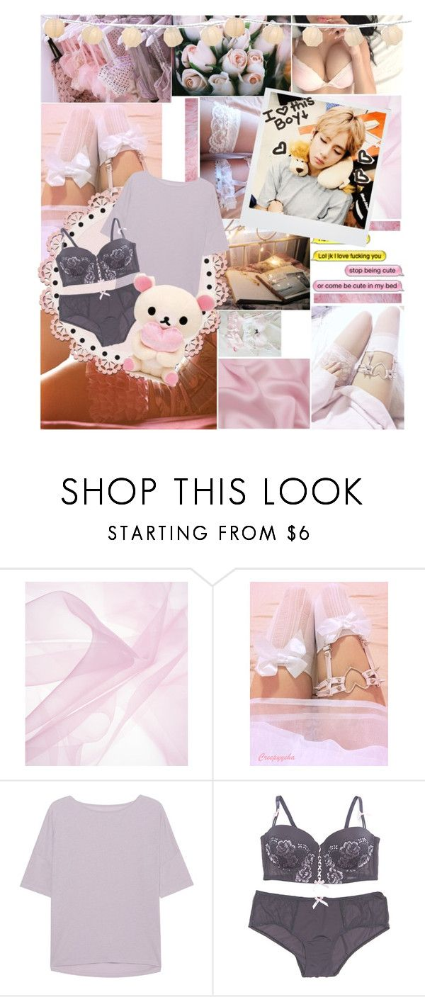 """Sleeping with you... Taehyung💗"" by candyhyperkidd ❤ liked on Polyvore featuring Juvia, René Rofé and Polaroid"