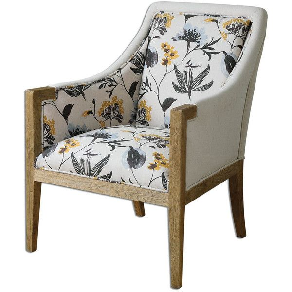Floral Curran Armchair (12.588.100 IDR) ❤ liked on Polyvore featuring home, furniture, chairs, accent chairs, floral armchair, contemporary furniture, modern contemporary furniture, contemporary accent chairs and floral accent chair