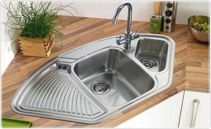 Image Of Corner Kitchen Sink Küche Waschbecken Spülbecken Design Kücheninsel Mit Spüle