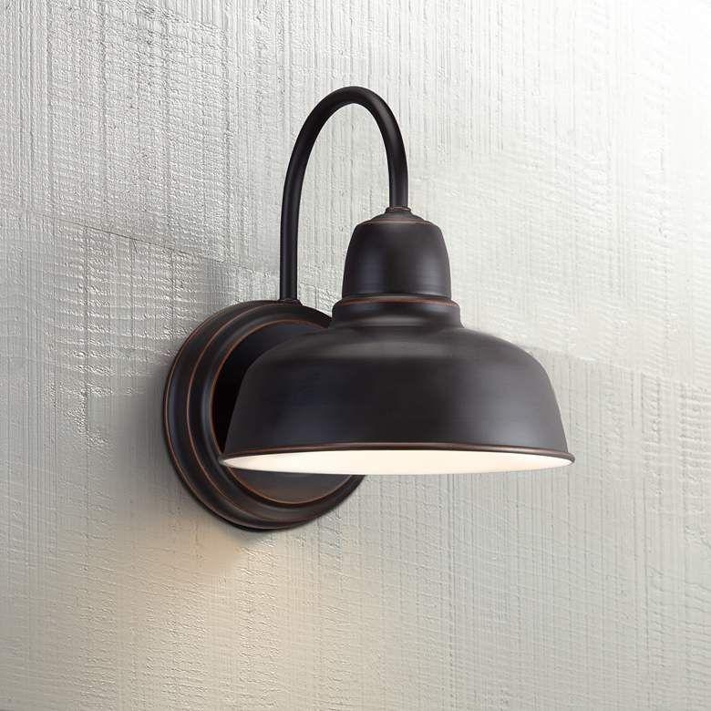 Urban Barn 11 1 4 High Bronze Indoor Outdoor Wall Light W4596 Lamps Plus In 2020 Outdoor Wall Light Fixtures Exterior Light Fixtures Outdoor Wall Lighting