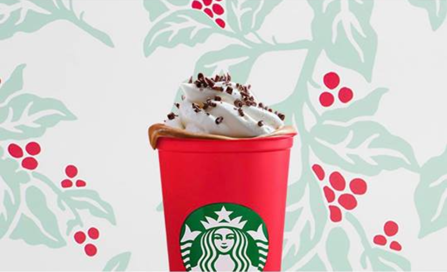 Free Starbucks LimitedEdition Holiday Reusable Cup (TODAY