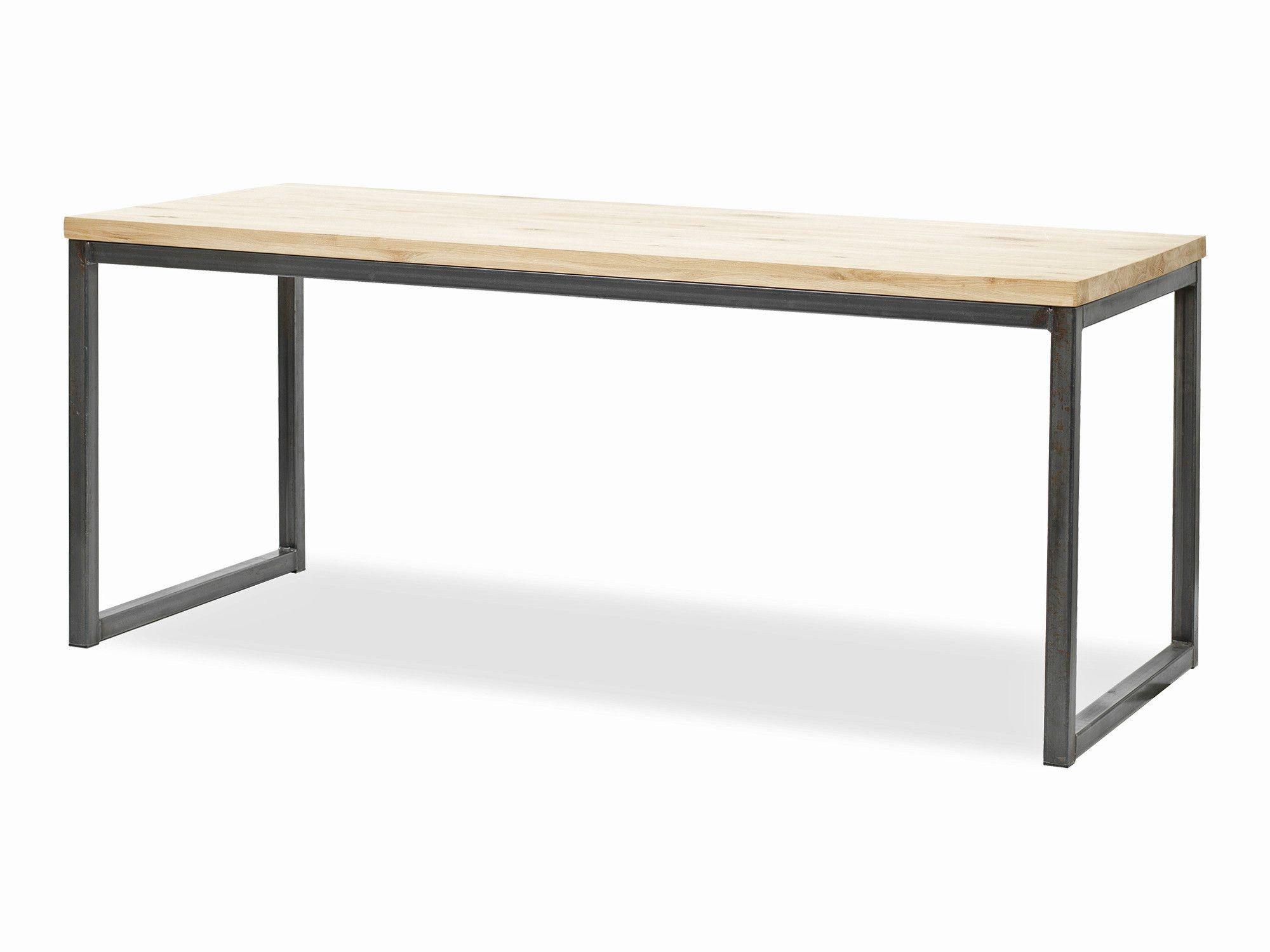 Tafel Olav eiken | maat 160x80 cm | matte transparante lak | extra mogelijkheden