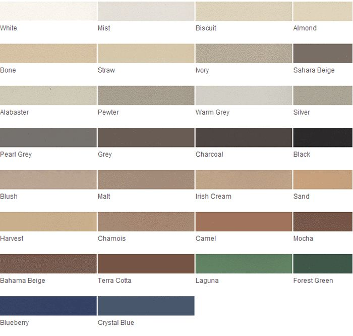Grout Rejuvenator Color Charts for help matching your grout color ...