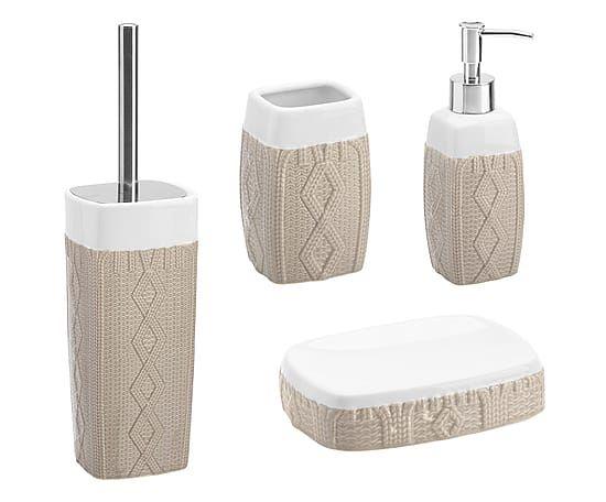 Set da bagno cachemire in ceramica beige 4 pezzi Set