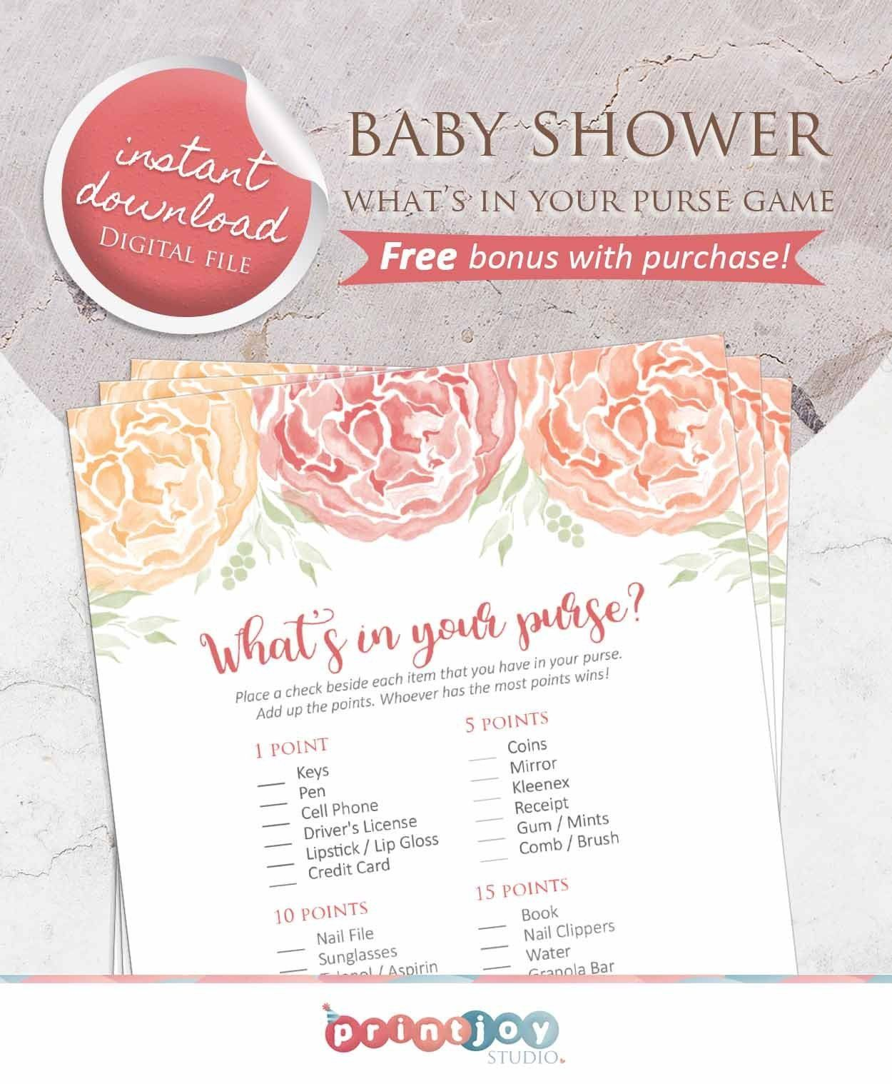 Delight Your Guests With This Printable Baby Shower Game