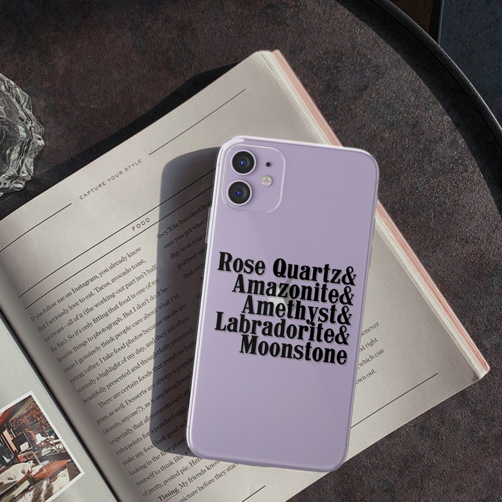 Crystal list phone case for iphone xr xs max 11 pro 7 8