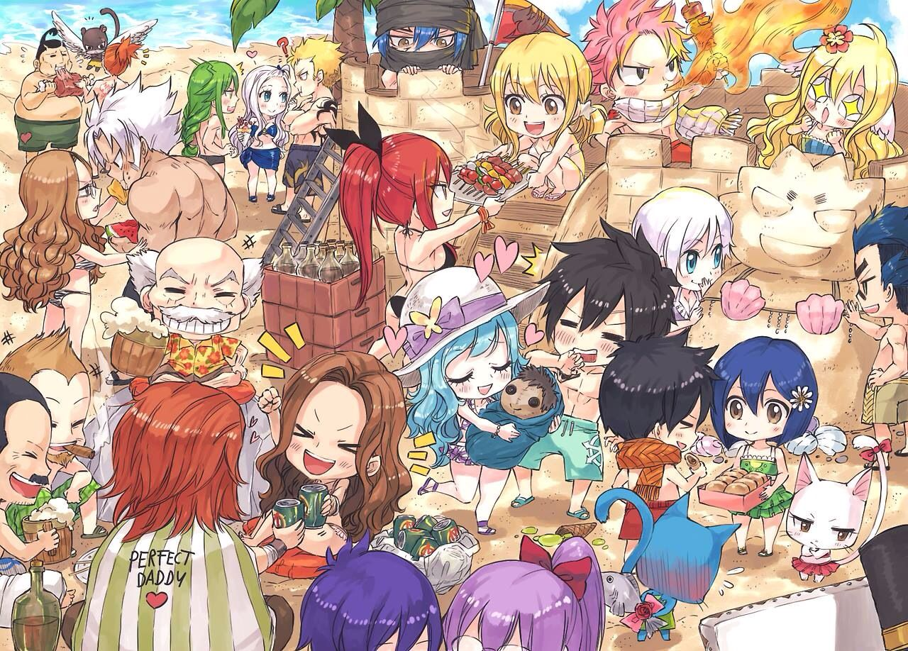 Fairy tail beach party 1. - I love this !!