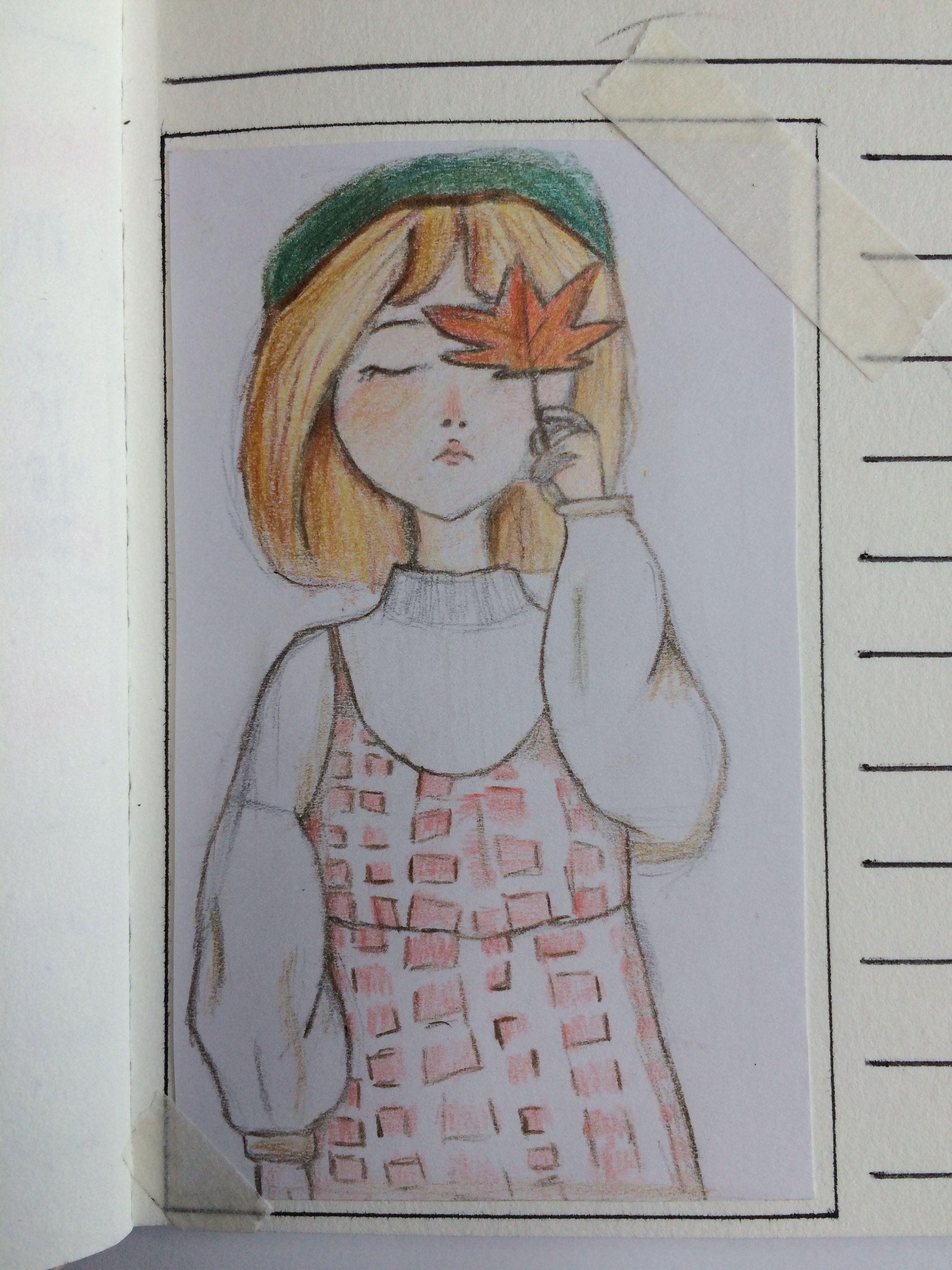 Wonderbaarlijk bulletjournal #meisje #tekenen #ideeën #herfst #kleurpotloden (met TS-24
