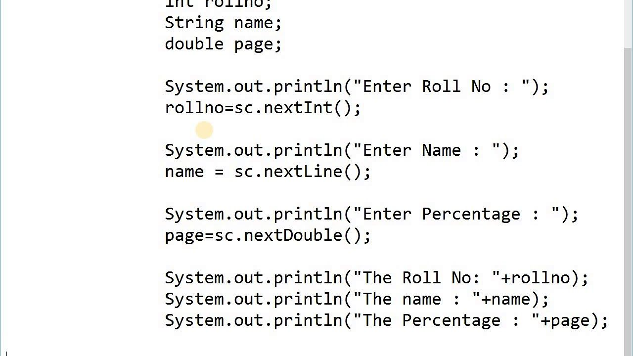 Programming In Java Scanner Class Examples In 2020 Class Header File Scanner