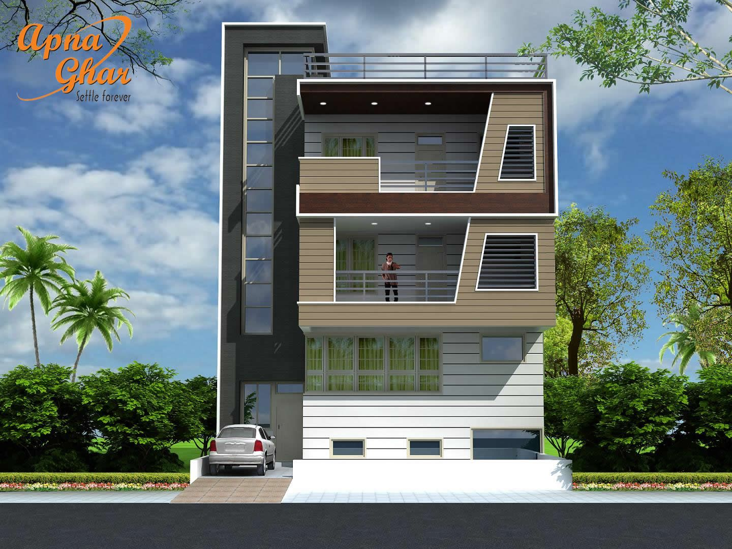 3 floor elevation design thefloors co for House building front design