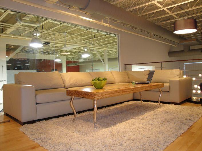 Office Lounge Area / Custom Furniture ~ BedfordBrooks Design Inc.