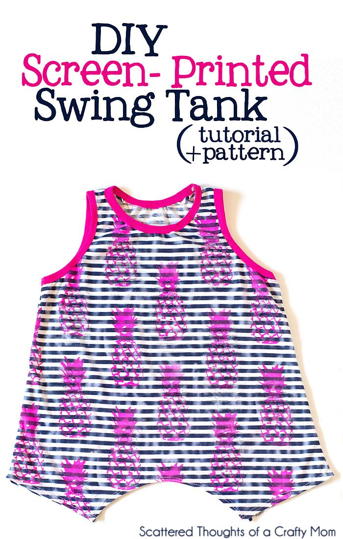 Free Swing Tank sewing pattern for girls. (size 3 to 8) #freepatterns #sewing