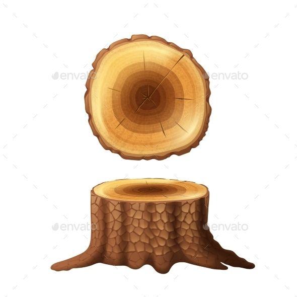 15+ Cut Tree Trunk Clipart