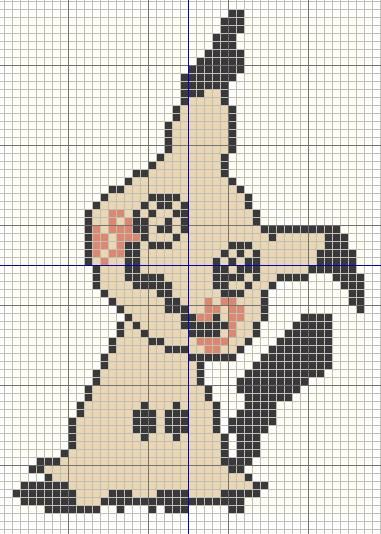 Photo of Buzy Bobbins: Mimikkyu – Pokemon cross stitch design