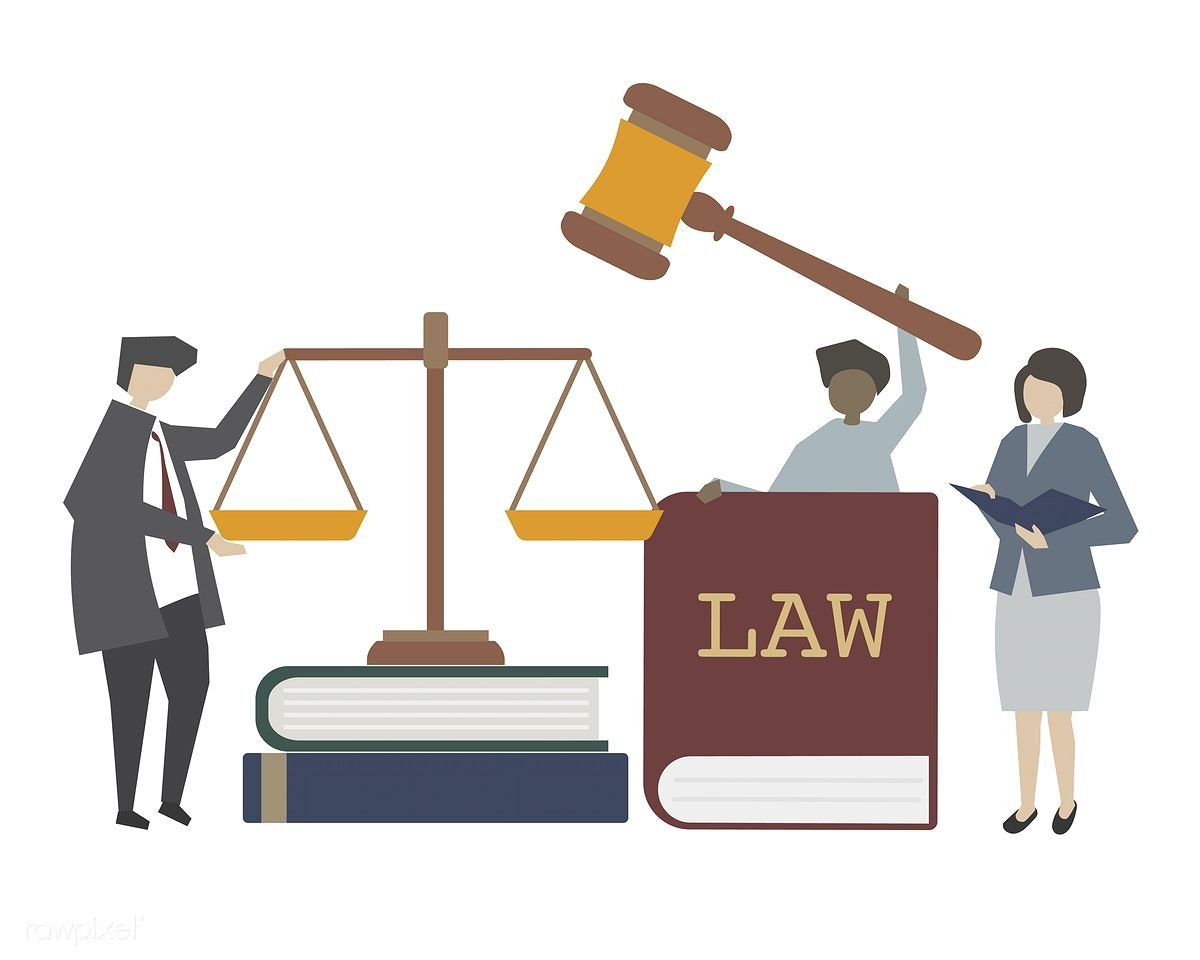 Download Premium Vector Of Law And Justice Concept Illustration By Minty About Law Lawyer Tribunal Legislation And Law Book 450095 Law And Justice Law Concept