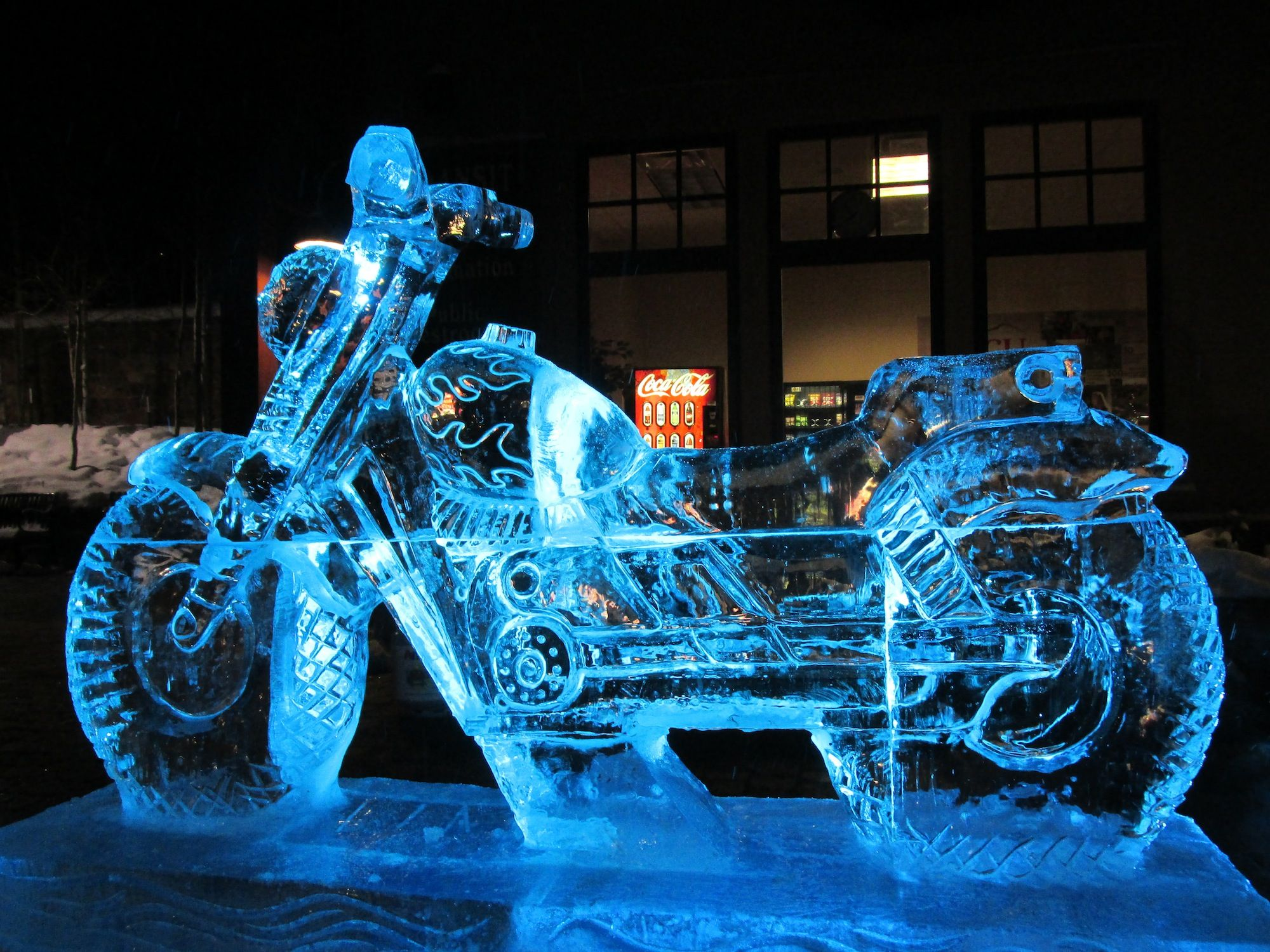 Ice Sculptures Motorcycle Ice Sculpture Cool Hand Ice