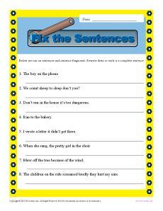 Run on sentence examples pdf
