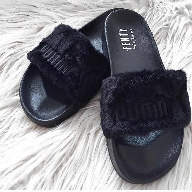 Pin by Bron on badgalRiri☆PUMA×RIHANNA☆Fur Slide  1c6e66e6a