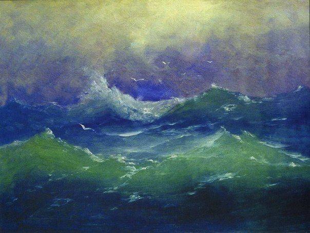 "Архип Куинджи. ""Волны"". 1870-е"