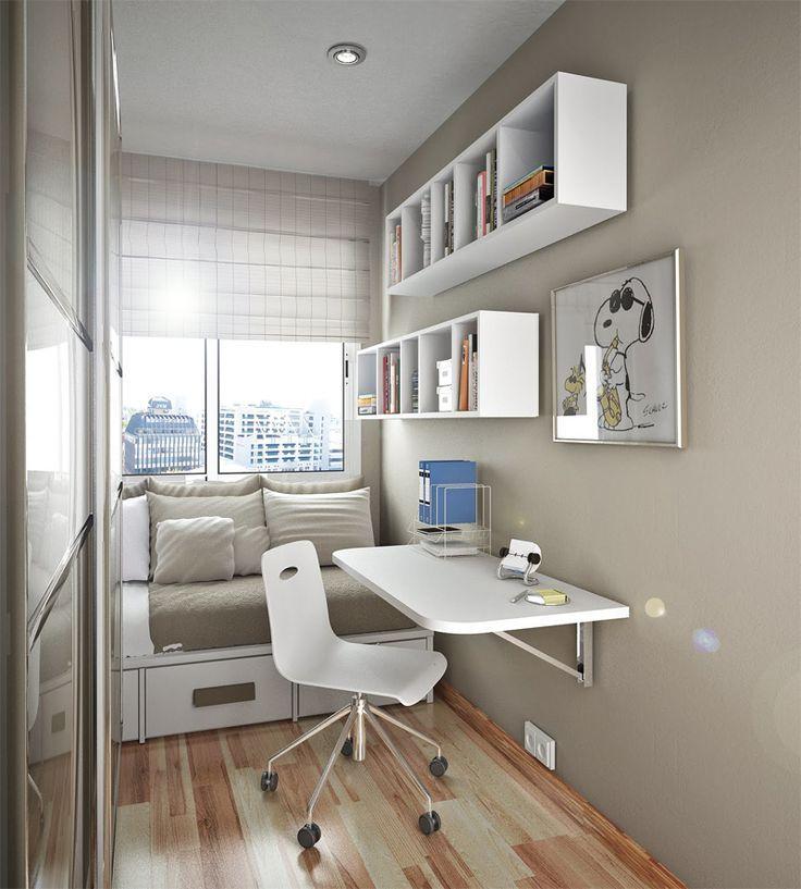 kuhle dekoration schreibtisch ikea mikael, minimalist teen desk with bookcase | cuarto de niños | pinterest, Innenarchitektur
