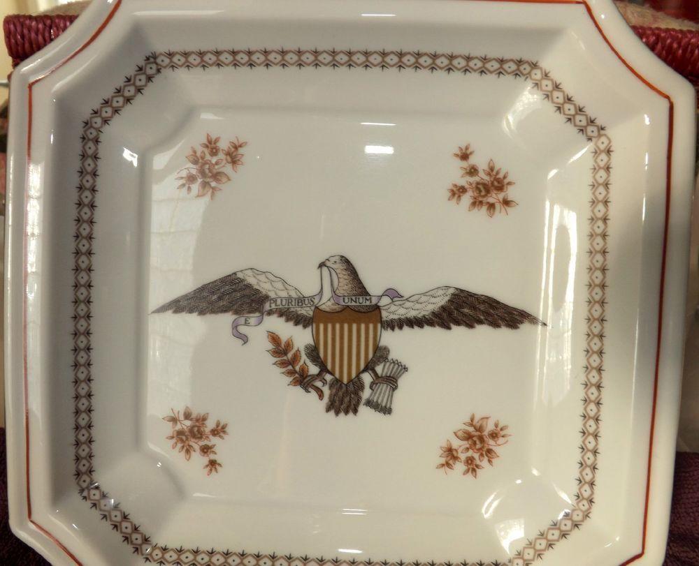 "Andrea by Sadek #9254 Eagle US Seal E Pluribus Unum Serving Tray 8 1/2"" x 8"""