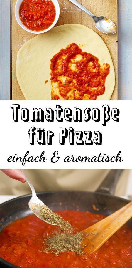 Tomatensoße für Pizza – so geht's #pizzateig