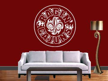Louisiana Lafayette Ragin' Cajuns NCAA FB Vinyl Deacl by JCMCUSTOM, $22.95