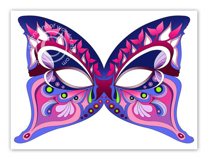 Printable Halloween Masks Butterfly - by Dimensions of Wonder - free printable face masks