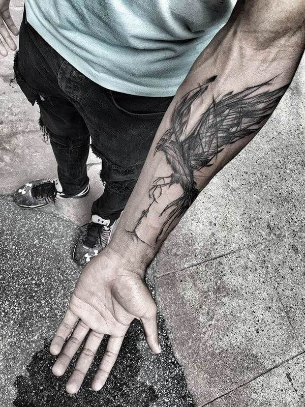 phoenix forearm tattoo ideas for men #phoenix #tattoo #meaning #designs #men #women #forearmtattoos