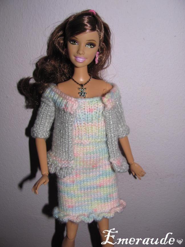 patron tricot barbie
