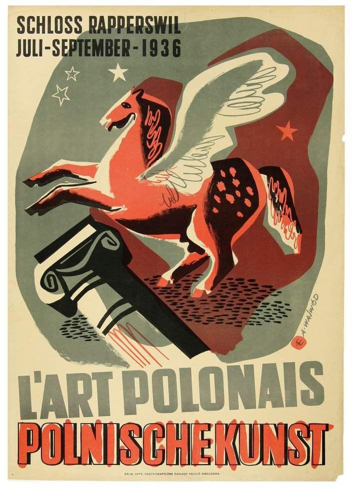 Antoni Wajwód Lart Polonais Polnische Kunst 1936 Plakaty