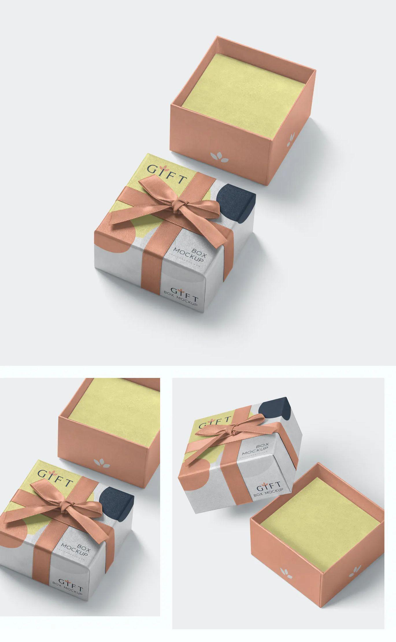 Download Gift Box Mockups Box Mockup Gift Box Gift Packaging Design