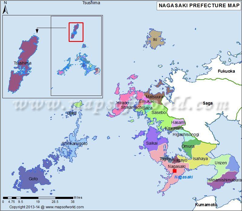 Nagasaki Map Japan Pinterest Nagasaki, Japan and Capital city - best of world map japan ecuador