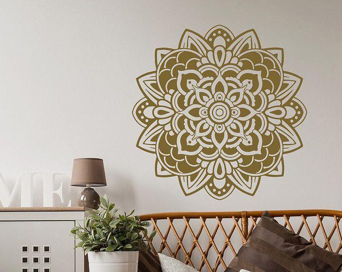 Mandala decal stickers adesivi vinile muro per camera da letto mandala wall decor yoga - Wall stickers camera da letto ...