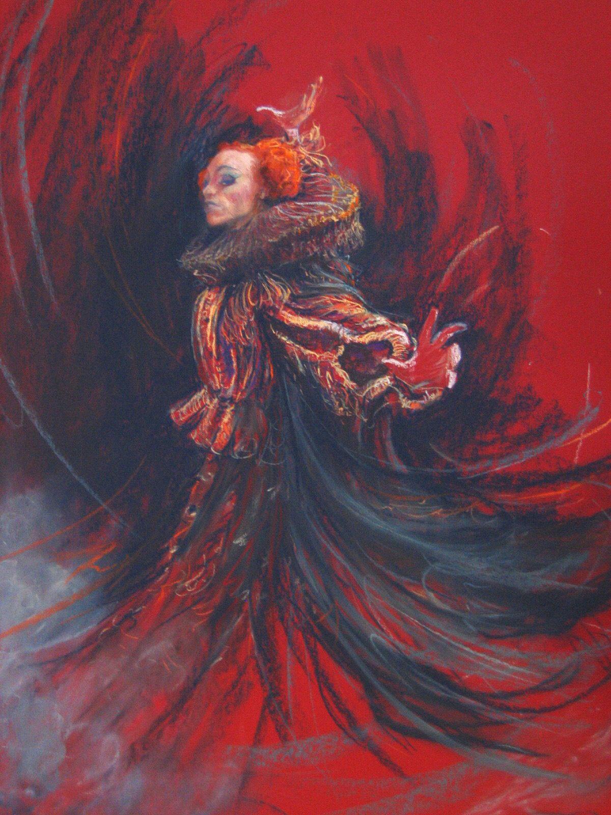 Rebecca de mendonca carabosse painting pastel