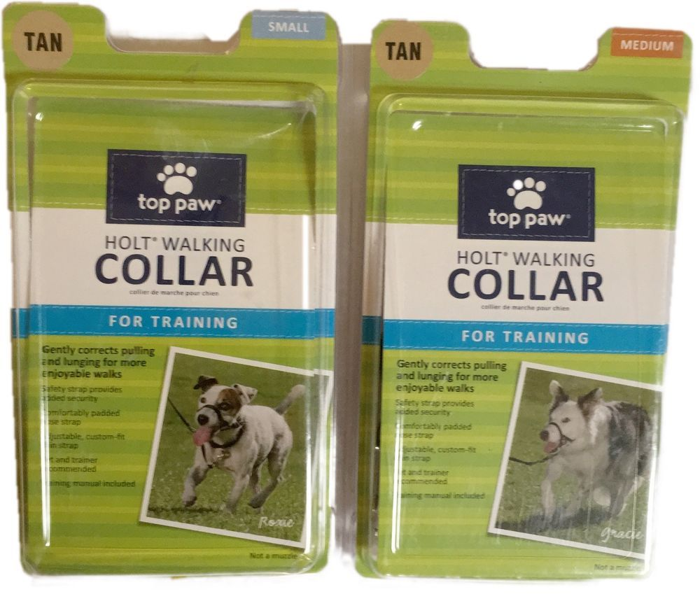 Top Paw Holt Walking Collar Dog Safety Control Tan Training Small
