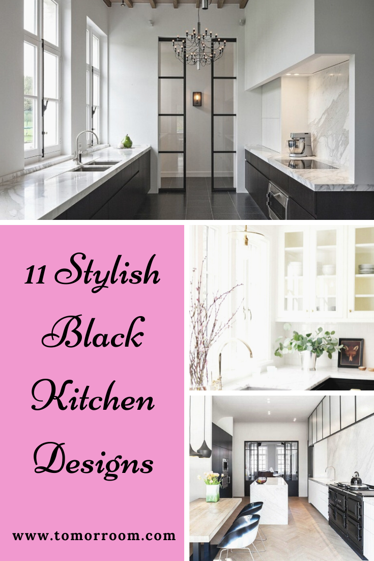 11 Stylish Black Kitchen Designs In 2020 Black Kitchens Design Kitchen Design