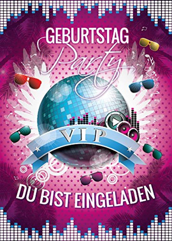12 Einladungskarten Zum Geburtstag Vip Kindergeburtstag Disco