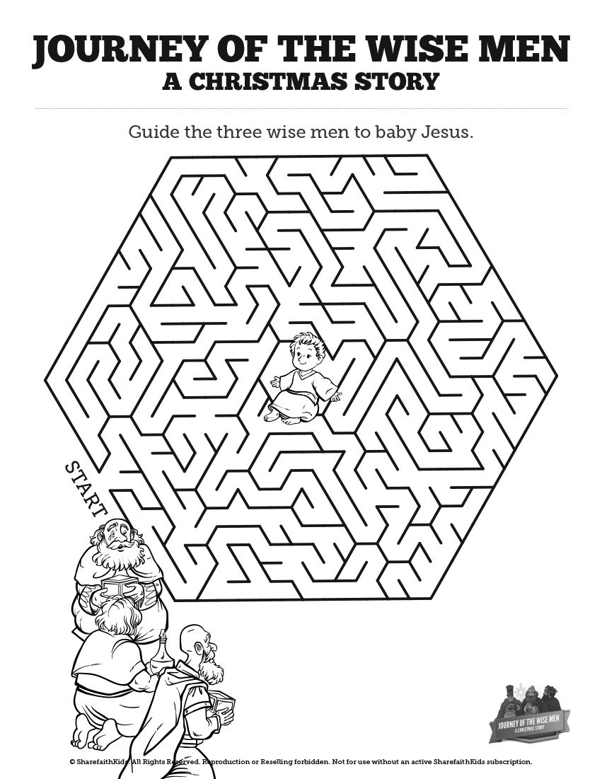 Matthew 2 The Magi Christmas Story Bible Mazes Have Your Class Lead