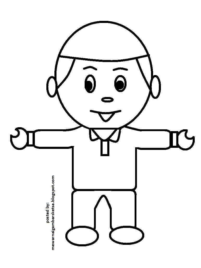 Mewarnai Anak Mengaji : mewarnai, mengaji, Mewarnai, Gambar:, Gambar, Muslim, Mengaji, Warna,, Muslim,