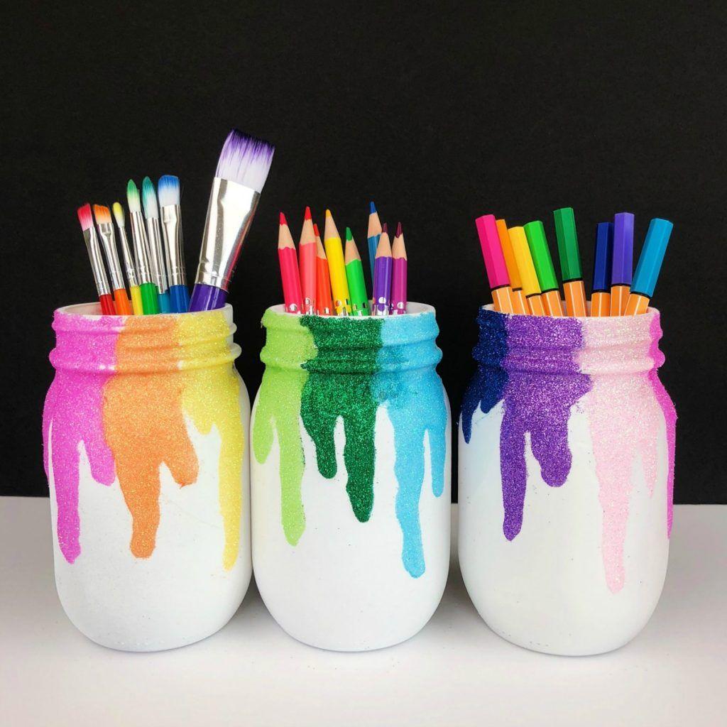 DIY Glitter Mason Jars Craft