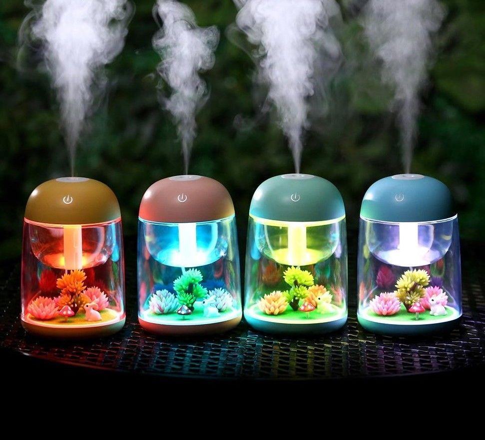 Mini Portable Mist Humidifier Transparent Rabbit Landscape