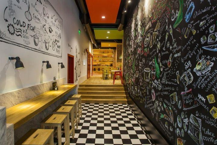fast food restaurant by t design sofia bulgaria trip to sofia pinterest. Black Bedroom Furniture Sets. Home Design Ideas
