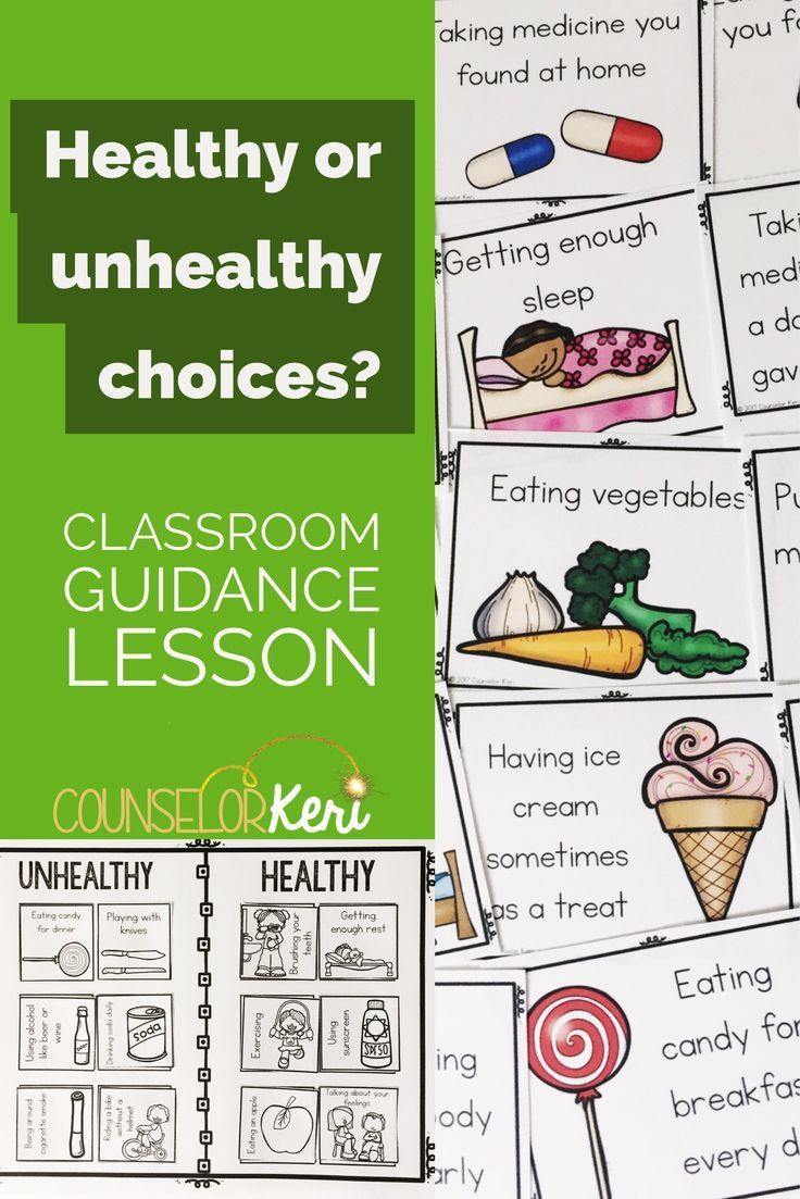 Healthy Choices Classroom Guidance Lesson For Early Elementary