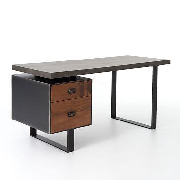 Royce Desk West Elm Modern Home Office Desk Furniture Desk