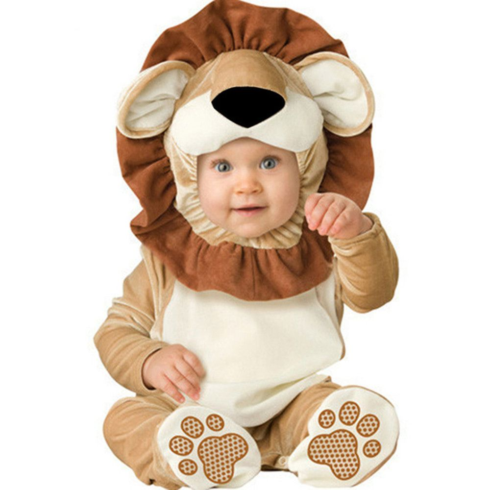 Home Humor Baby Boys Girls Carnival Halloween Lion Costume Romper Kids Clothes Set Toddler Cosplay Animal Jumpsuits Infant Clothes