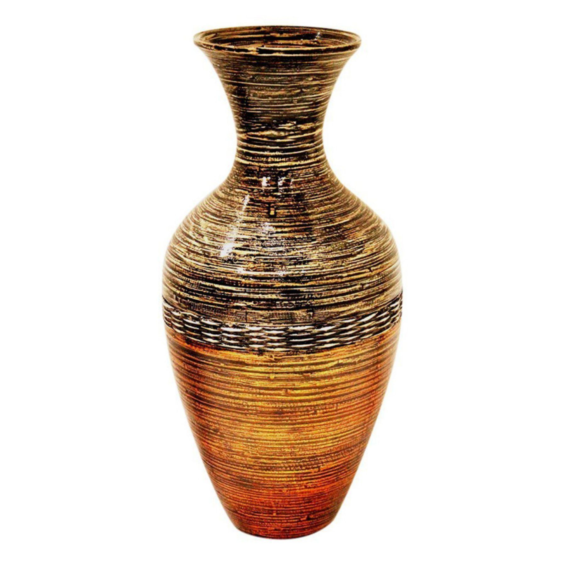 Heather Ann Creations Traditional Water Jug Bamboo Spun Decorative Vase W33902 Bgd