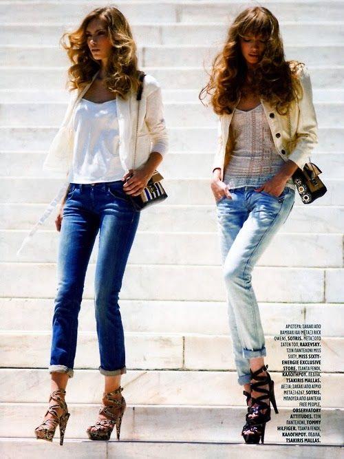 Gorgeous blondes in denim and blazers | Spring ▷ Fresh | Pinterest ...