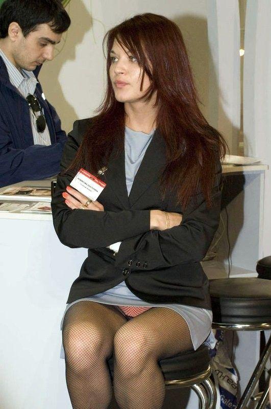 Nylons upskirt woman political candidates 2010